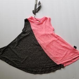 NUNUNU HALF AND HALF 360 DRESS Charcoal/pink